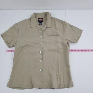 Harley Davidson silk button down shirt B80